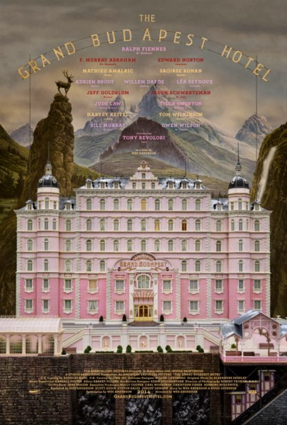 Grand Budapest Hotel Wes Anderson film poster