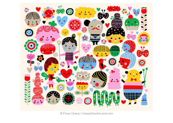 Happy+Faces+©+Flora+Chang+-+Happy+Doodle+Land