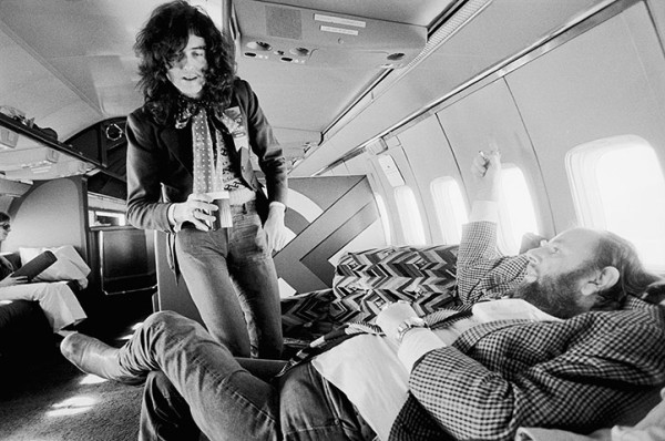 Jimmy Page talking to Peter Grant