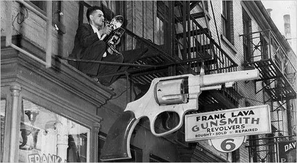 weegee-on-fire-escape-Leigh-Wiener